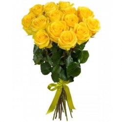Букет из желтых роз 15 роз