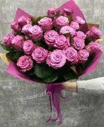 "Букет роз ""Сиреневый рай"" 25 роз"