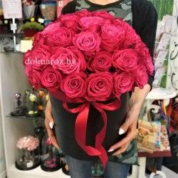 """Цветы в коробке """"Катрин"""" 51 роза"""