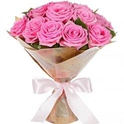 """Букет роз """"В точку"""" 11 роз"""
