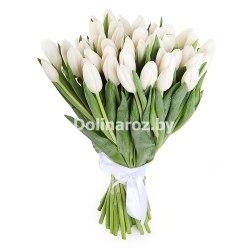 Букет белых тюльпанов 41шт