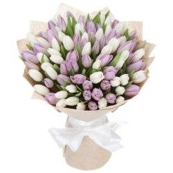 Букет розовых тюльпанов 51шт.