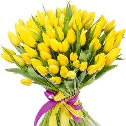 Букет желтых тюльпанов 101шт