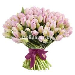 """Букет тюльпанов """"Гламурный"""" 101шт."""