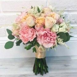 """Букет невесты """"Розовый пион"""""""