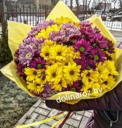 """Букет """"Фиолетовый и Желтый"""""""