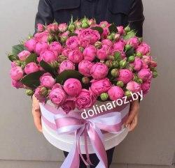 """Цветы в коробке """"Мисти Баблс"""" Кустовые розы"""