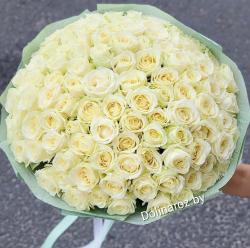 "Букет роз ""Белый Шик"" 101 роза"