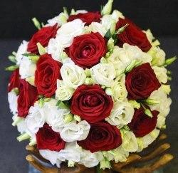"""Букет невесты """"Красное и белое"""""""