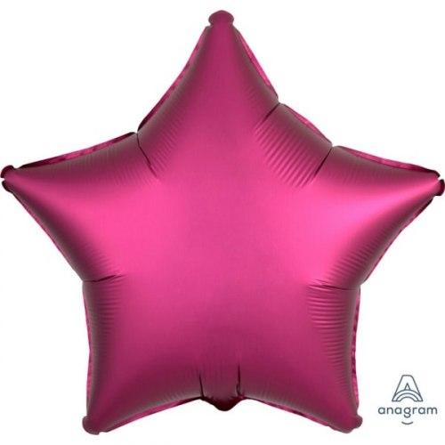 """Фольгированный шар """"Гранатовая звезда, Сатин"""" 18″ (46 см)"""