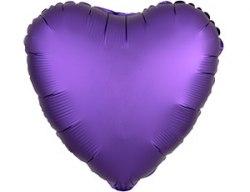 """Фольгированный шар с гелием """"Фиолетовое Сердце"""" 18″/46 см"""