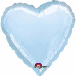 """Фольгированный шар с гелием """"Голубое Сердце"""" 18″/46 см"""