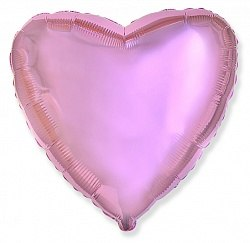 """Фольгированный шар """"Нежно-розовое Сердце"""" 18″ (46 см)"""