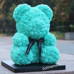 """Мишка из 3D роз """"Бирюзовый"""""""