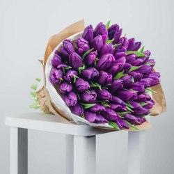"""Букет тюльпанов """"Фиолетовые мечты"""" 51 шт."""