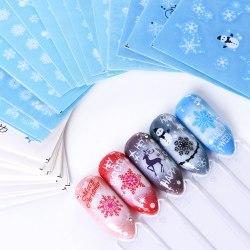 Наклейки для декора ногтей. Зимние мотивы