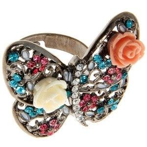 Кольцо Бабочка романтичная