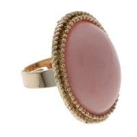 Кольцо Барыня овал цвет светлый коралловый безразмерное 145225