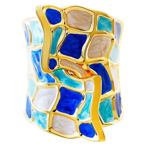 Браслет синий Laetitia Moreau под золото