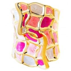 Браслет розовый Laetitia Moreau под золото