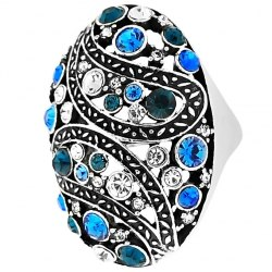 Кольцо с камнями Руслан Токаев под серебро