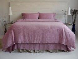 Комплект постельного белья из мягченного льна Ручная работа