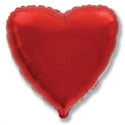 Шары фольгированные сердце (по цветам)