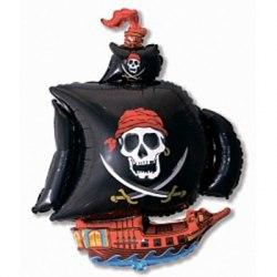 """Шар фольгированный """"пиратский корабль"""""""