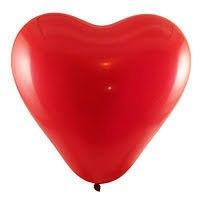 "Латексное сердце 16"" (40 см)"