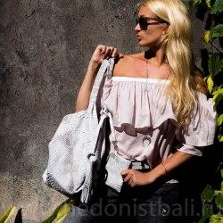 Блузка с открытыми плечами IRIS розовая