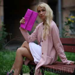 Кардиган шерстяной розовый