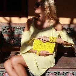Платье пляжное WAVE желтое