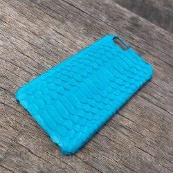 Задняя панель на IPhone 6 из натуральной кожи бирюзовый
