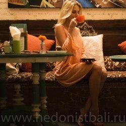 Платье пляжное WAVE персиковое