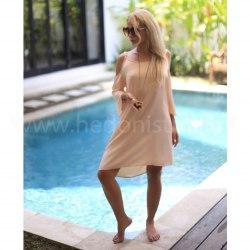 Платье пляжное WAVE кремовое