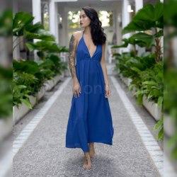 Платье с открытой спиной KATARINA синее