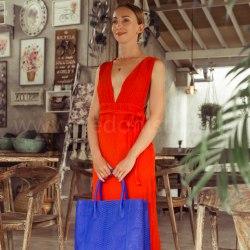 Платье с открытой спиной LILY оранжевое длинное