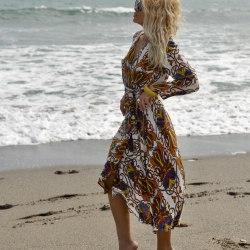 Платье-халат STEFANIA разноцветное