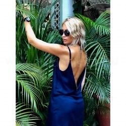 Платье на бретелях WENDY синее S/M