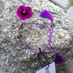 Браслет-нитка с Буддой фиолетовый