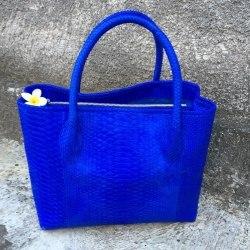 Сумка шоппер большая ярко синяя