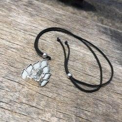 Ожерелье с Ганешей, металл, серебряного цвета