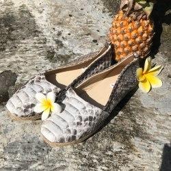Эспадрильи из натуральной кожи питона натуральная расцветка, без покраски, кожаная подкладка