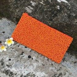 Клатч из бисера оранжевый