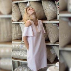 Платье с открытыми плечами PLAY розовое