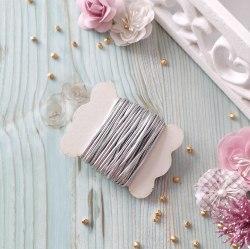 Резинка шляпная, цвет серебро, 2 мм.