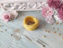Шнур вощеный, цвет жёлтый, 1.2 мм., хлопок