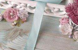 Лента репсовая, цвет нежно-голубой, 25 мм.