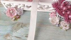 Лента репсовая, цвет нежный розово-персиковый, 25 мм.