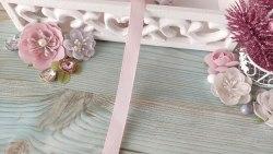 Лента репсовая, цвет нежно-розовый, 10 мм.